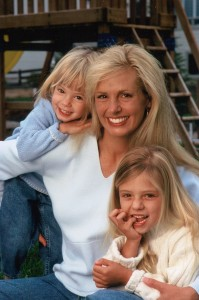 Julie Aigner Clark and girls