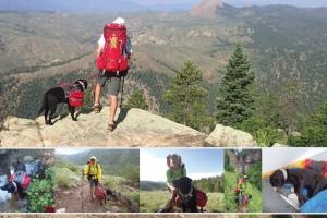Trevor Thomas hikes Colorado trail