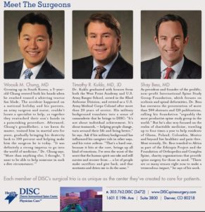 DISC, Dr. Woosik M. Chung, Dr. Timothy R. Kuklo, Dr. Shay Bess