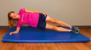 Kathy Vidlock, Colorado Orthopaedics Side Plank