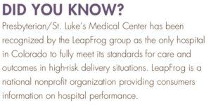 Presbyterian St. Lukes Leap Frog hospital performance