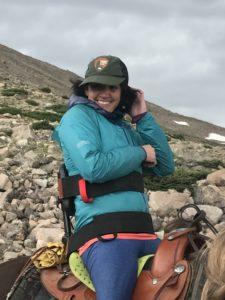 Quinn Brett horseback to Lake Chasm, Estes Park, Colorado