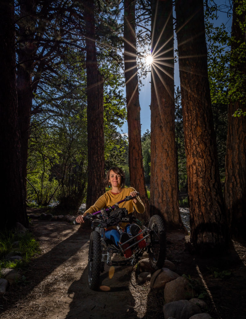 ReActive Adaptations three-wheeled, all-terrain handcycle, Quinn Brett, spinal cord injury, rock climbing fall